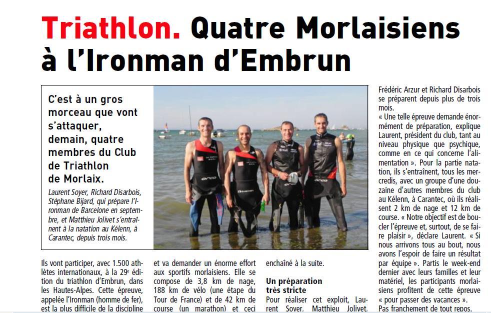 Préparation été 2012 Carantec dans Morlaix Triathlon sur IRONMAN preparationcarantec